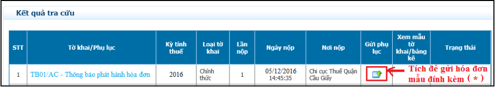 Thông báo phát hành hóa đơn điện tử