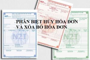 Phân biệt hủy hóa đơn và xóa bỏ hóa đơn