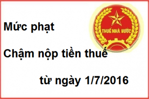 muc phat cham nop tien thue moi nhat