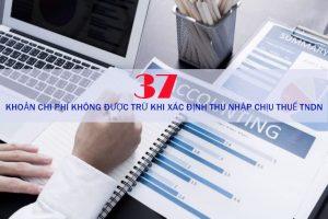 Những chi phí không được trừ khi xác định thu nhập chịu thuế TNDN
