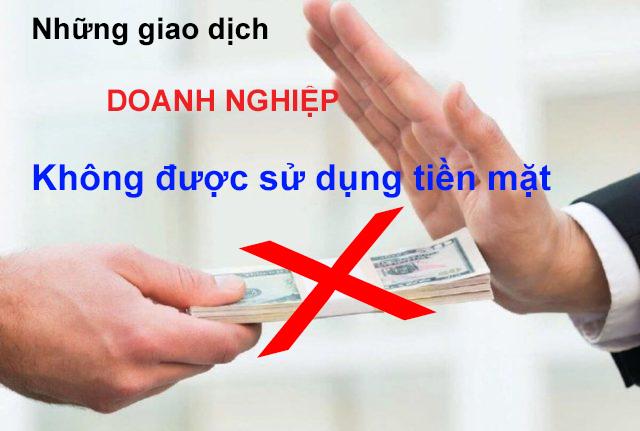 Giao dịch không được sử dụng tiền mặt