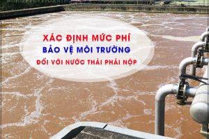 Xác định mức phí bảo vệ môi trường đối với nước thải phải nộp