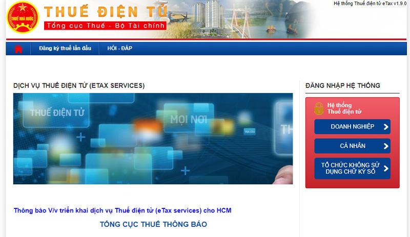 Đăng ký mã số thuế qua mạng đơn giản