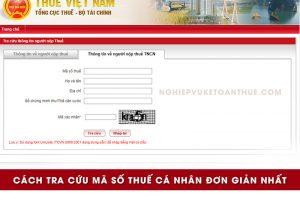 Tra cứu mã số thuế cá nhân
